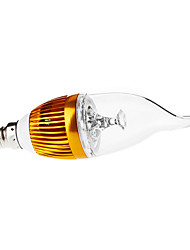 baratos -3000lm E14 Luzes de LED em Vela CA35 3 Contas LED LED de Alta Potência Regulável Decorativa Branco Quente 110-130V 220-240V