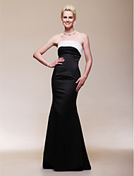 cheap -Mermaid / Trumpet Strapless Floor Length Satin Formal Evening Dress with Pleats by TS Couture®