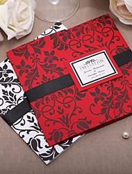 abordables -invitación de la boda personalizada con cinta negro (juego de 20)