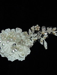 Women's Satin Lace Rhinestone Imitation Pearl Headpiece-Wedding Special Occasion Casual Fascinators Flowers