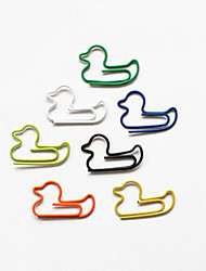cheap -Duck Style Colorful Paper Clips (10PCS)