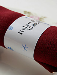 personalizirani prsten papirnatih papira - plavi snijeg (set od 50) vjenčani prijem