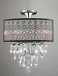 cheap -QINGMING® 4-Light Flush Mount Ambient Light - Crystal, Mini Style, 110-120V / 220-240V Bulb Not Included / 20-30㎡ / E12 / E14