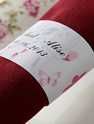 anneau de serviette en papier personnalisé - fleur de printemps (lot de 50) réception de mariage