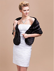 cheap -Feather / Fur Party Evening Casual Office & Career Shawls Fur Wraps Shawls