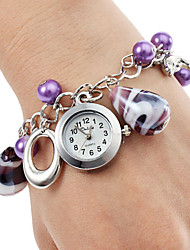 cheap -Women's Alloy Plastic Analog Quartz Bracelet Watch (Purple) Cool Watches Unique Watches