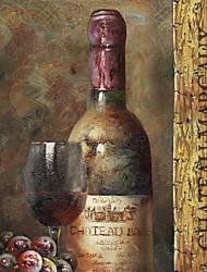 arte da lona esticada vida ainda coleção de vinhos v pelo estúdio nbl pronto para pendurar