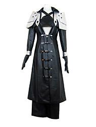 Ispirato da Final Fantasy Sephiroth Video gioco Costumi Cosplay Abiti Cosplay Collage Nero Maniche lungheCappotto / Scudo / Pantaloni /