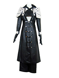 Inspirado por Final Fantasy Sephiroth Vídeo Jogo Fantasias de Cosplay Ternos de Cosplay Patchwork Preto Manga CompridaCasaco / Peitoral /