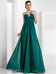 cheap -A-Line Princess Spaghetti Straps Sweetheart Floor Length Chiffon Evening Dress with Draping by TS Couture®