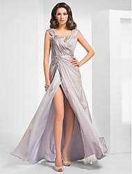A tubino Lungo Chiffon Serata formale Ballo militare Vestito con Perline Spacco sul davanti A incrocio di TS Couture®