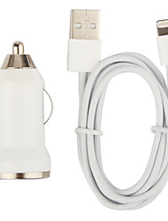 cheap -Tiny Car Charger with 100cm Apple 8 Pin Cable for iPhone 6 iPhone 6 Plus iPhone 5,iPod (DC12-24V,1A)