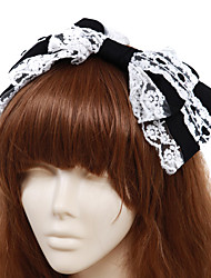 cheap -Lolita Jewelry Classic Lolita Dress Headwear Princess Men's Women's Lolita Accessories Solid Bowknot Headpiece Cotton