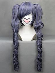 Parrucche Cosplay Il maggiordomo diabilico Ciel Phantomhive Viola Medio Anime Parrucche Cosplay 70 CM Tessuno resistente a calore Donna