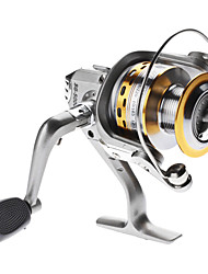 cheap -Fishing Reel Spinning Reel 5.1:1 Gear Ratio+4 Ball Bearings Right-handed / Left-handed / Hand Orientation Exchangable Sea Fishing / Freshwater Fishing