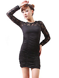Zhi Yuan Splejsning Slim Langærmet Sheath Dress (Flere farver)