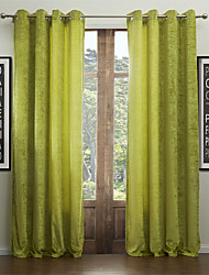Two Panels Curtain Modern , Solid Living Room 55% Cotton Chenille/45% Rayon Rayon Material Curtains Drapes Home Decoration For Window