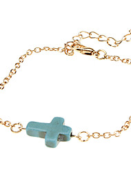 The Cross And Turquoise Bracelet