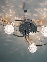 30W Künstlerische Moderne Unterputz mit 3 Leuchten und 3 Frühling Globe Shades in Violin Eigenschaft