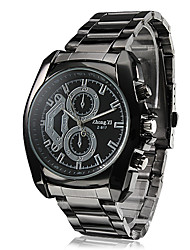 cheap -Men's Quartz Wrist Watch Hot Sale Alloy Band Charm Dress Watch Black