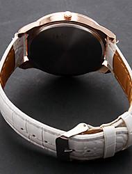 Недорогие -Жен. Дамы Модные часы Кварцевый PU Группа Аналоговый Эйфелева башня Белый