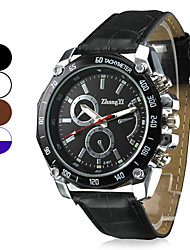 Men's Racing Design Dial PU Leather Band Quartz Wrist Watch (Assorted Colors) Cool Watch Unique Watch Fashion Watch