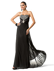 Sheath / Column Strapless Sweetheart Floor Length Chiffon Evening Dress with Beading by TS Couture®