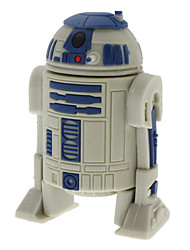 cheap -8GB USB disk R2-D2 Robot High-speed USB 2.0 Flash Pen Drive Gray