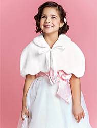 cheap -Sleeveless Faux Fur Wedding Party Evening Kids' Wraps Fur Wraps Capelets