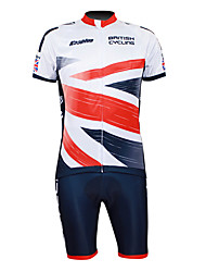 Kooplus Maglia con pantaloncini da ciclismo Per uomo Mezza manica Bicicletta Maglietta/Maglia Pantaloncini /Cosciali Set di vestiti