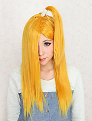 Parrucche Cosplay Naruto Deidara Giallo Medio Anime Parrucche Cosplay 50 CM Tessuno resistente a calore Donna