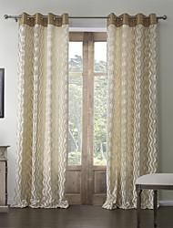 baratos -dois painéis rococó poliéster mistura de algodão em relevo quarto corrugation escurecimento cortina