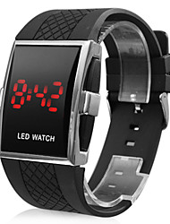 cheap -Men's Watch Red LED Calendar Silicone Strap Sport Watch Wrist Watch Cool Watch Unique Watch Fashion Watch