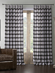 baratos -dois painéis de cortina de linho mediterrâneo impressão stripe