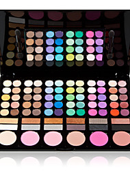 cheap -78 Colors 3in1 Professional 60+12 Smoky Eyeshadow 6 Blusher Makeup Cosmetic Palette