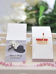 Wedding Décor Personalized Matchbooks - Hat (Set of 50)