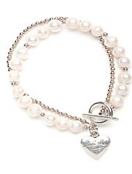 Недорогие -Жемчужина прядь сердце браслет свадебная вечеринка элегантный женский стиль