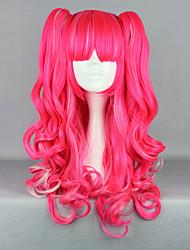 Parrucche lolita Punk Rosso Lolita Parrucche Lolita 65 CM Parrucche Cosplay Tinta unita Parrucche Per