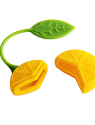 Lemon Design Tea Herb Filter Infuser Strainer Teabag (Random Color)