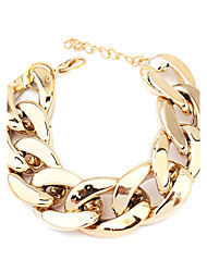 Bracelet/Chain Bracelets Acrylic Party / Daily Jewelry  Gold / Black / Silver,1pc Christmas Gifts