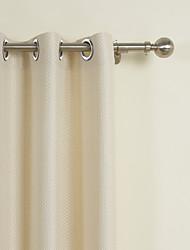 Stanglomme Kousering Top Fane Top Dobbelt Pliseret Vindue Behandling Neoklassisk , Mønstret Ensfarvet 100% Polyester Polyester Materiale