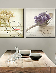 Modern Style Spoon Wall Clock in Canvas 2pcs