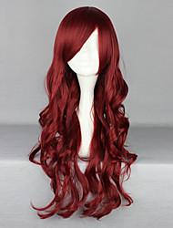 Недорогие -Парики для Лолиты Готика Красный Лолита Парики для Лолиты 28 дюймовый Косплэй парики Однотонный Парики Хэллоуин парики