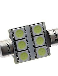 Недорогие -Фестон Автомобиль синий 1 Вт. SMD 5050 Лампа для чтения Лампа освещения номерного знака
