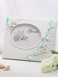 cheap -Resin Beach ThemeWithRhinestone Guest Book
