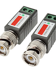 1 Kanal passive CCTV Video-Transceiver b / w: 600m Farbe: 400m 10cm