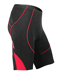cheap -SANTIC Men's Cycling Padded Shorts - Red Bike Quick Dry Spandex