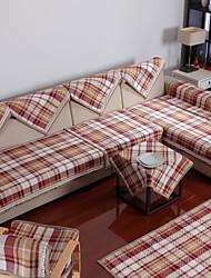 Cotton English Style Check Sofa Cushion 85*210