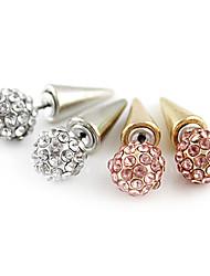 Boucles d'oreille goujon Alliage Strass Imitation de diamant Pierres de naissance Argent Doré Bijoux Quotidien