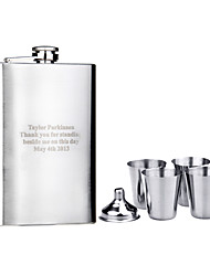 cheap -Stainless Steel Hip Flasks Groom Groomsman Couple Parents Wedding Anniversary Birthday Business